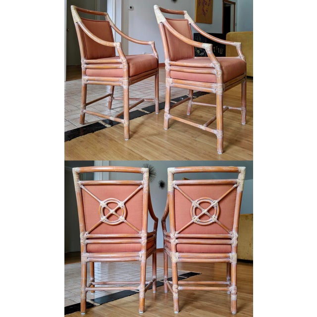 1970s Vintage McGuire Rattan Armchairs- Set of 4 For Sale - Image 12 of 12
