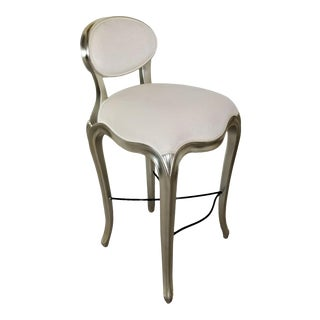 Christopher Guy Cafe De Paris Bistro Bar Stool With Silver Finish For Sale