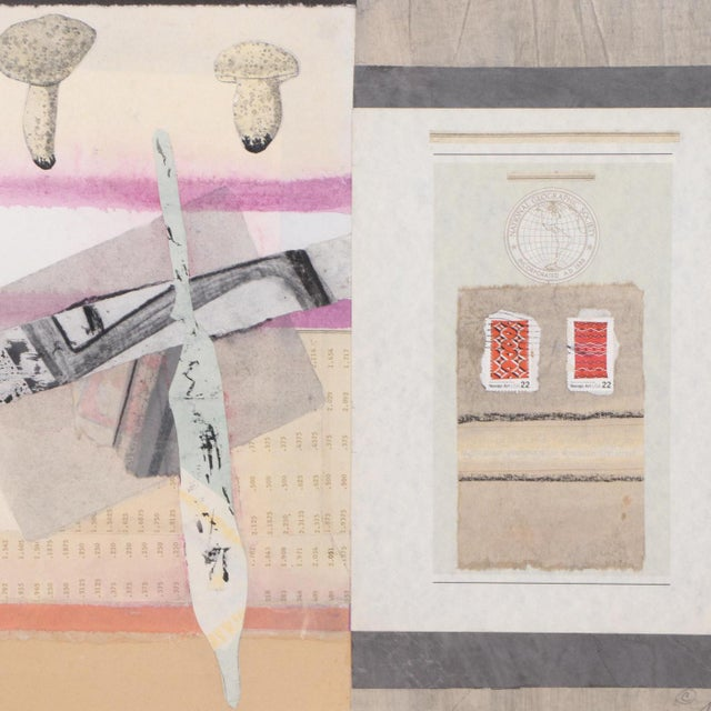 Vintage Abstract Mixed Media Collage For Sale - Image 4 of 7