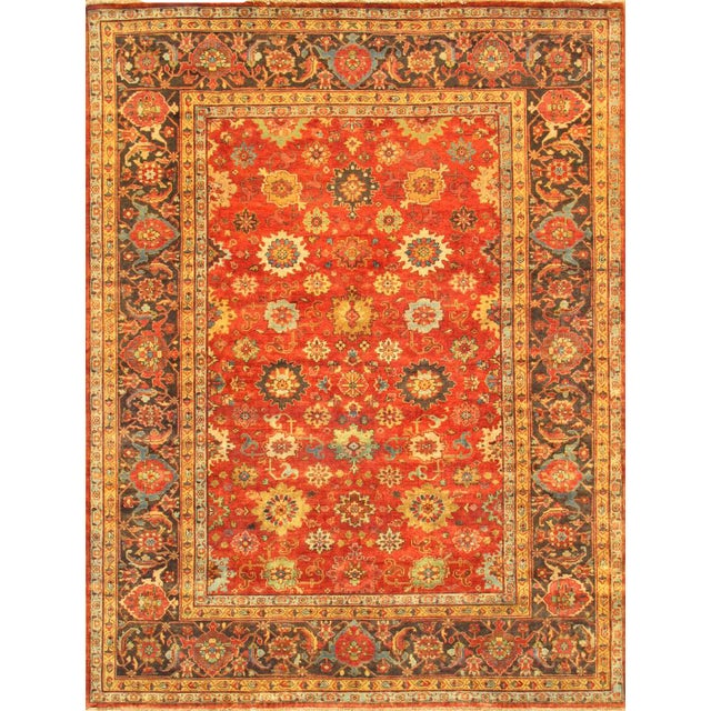"Mahal Hand-Knotted Wool Rug - 8' X 9'10"" - Image 1 of 2"