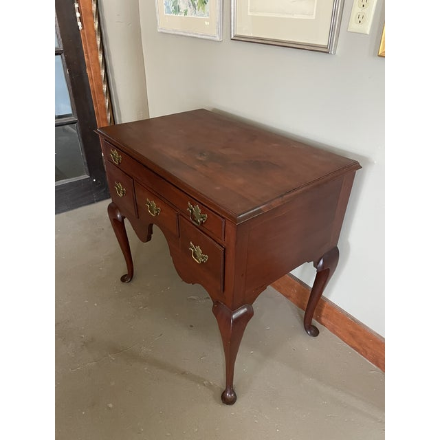 Queen Anne 19th Century Queen Anne Style Solid Mahogany Chest With Cabriole Legs For Sale - Image 3 of 13
