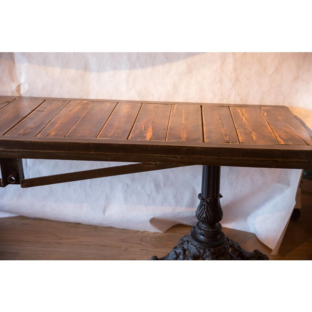 Rustic Made in Usa Reclaimed Wood Buffet Table For Sale - Image 3 of 8