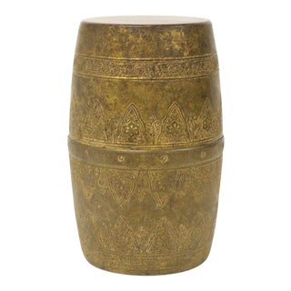 Petite Brass Garden Stool For Sale