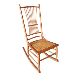 Early 20th Century Oak Rocking Chair For Sale