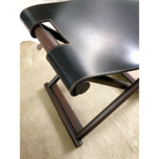 Wood Christian Liaigre Bazane Stool for Holly Hunt (30 Available) For Sale - Image 7 of 12