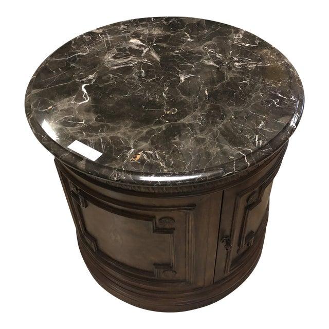 1980's Vintage Drexel Marble Top Nightstand For Sale