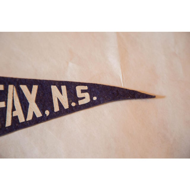 Contemporary Vintage Halifax, NS Felt Flag For Sale - Image 3 of 3