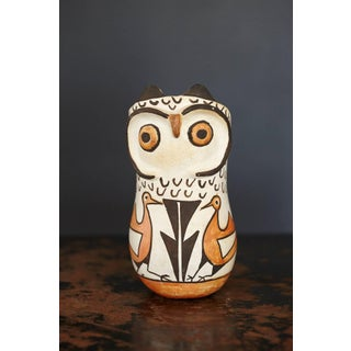 Native American Acoma Polychromed Owl Jar by Frances Torivio, Circa 1960s Preview