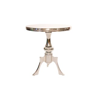 Contemporary Chrome Circle Dining Table For Sale