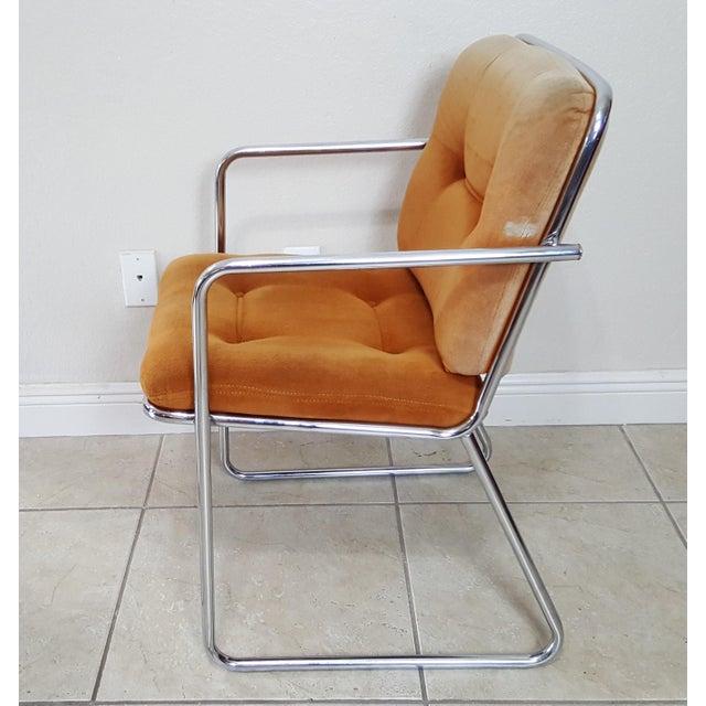 Orange Vintage 1970s Mid Century Modern ChromeCraft Corp Chairs - Set of 3 For Sale - Image 8 of 13