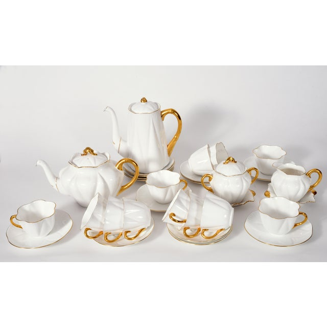 Vintage English Porcelain Tea / Coffee Service Service for 12 People - 36 Pc. Set For Sale - Image 12 of 13