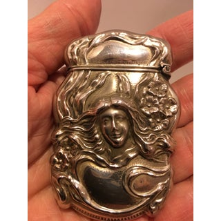 Art Nouveau Sterling Silver Vesta Match Safe Preview
