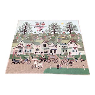 Folk Art Style Balloons Rug/Wall Hanging For Sale