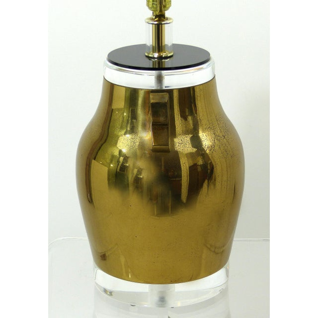 Vintage Brass & Lucite Urn Lamps - A Pair - Image 5 of 10