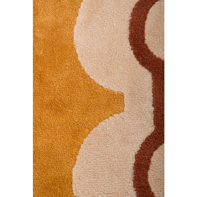 Modernist Wool Rug by Pierre Cardin in Golden Yellow, Denmark 1960s For Sale - Image 9 of 11