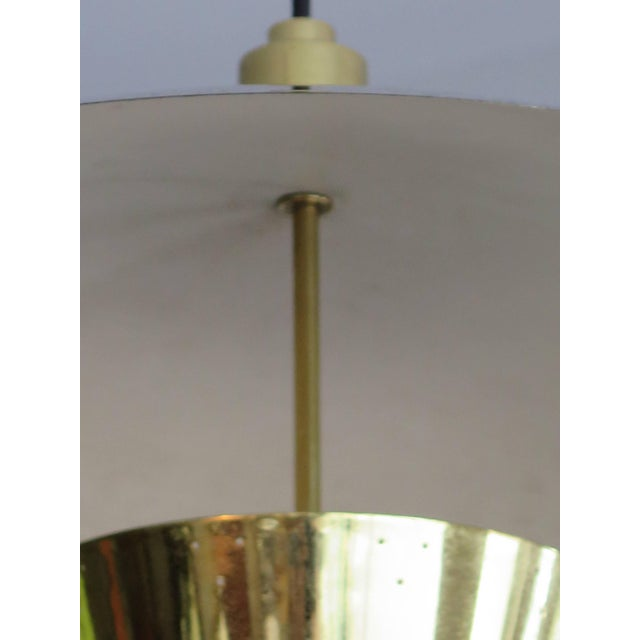 Mid-Century Modern Brass Pendant Adjustable Lamp For Sale - Image 3 of 9