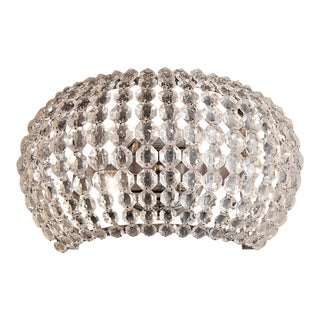 Contemporary Sparkle Metal Wall Light For Sale