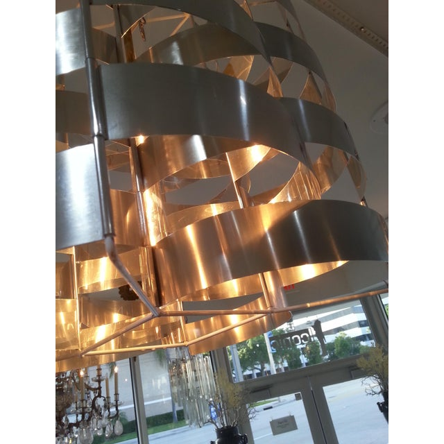 Mid 20th Century 1970s Max Sauze Aluminium Chandelier For Sale - Image 5 of 8