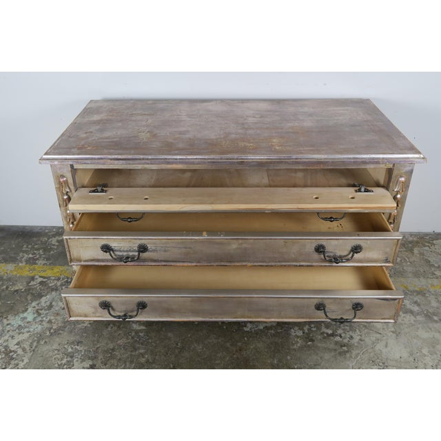 Silvered Chest Of Drawers C. 1930's - Image 5 of 10