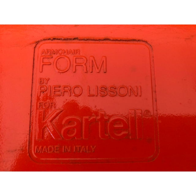 Kartell Piero Lissoni Orange Form Lounge Chair For Sale - Image 10 of 11