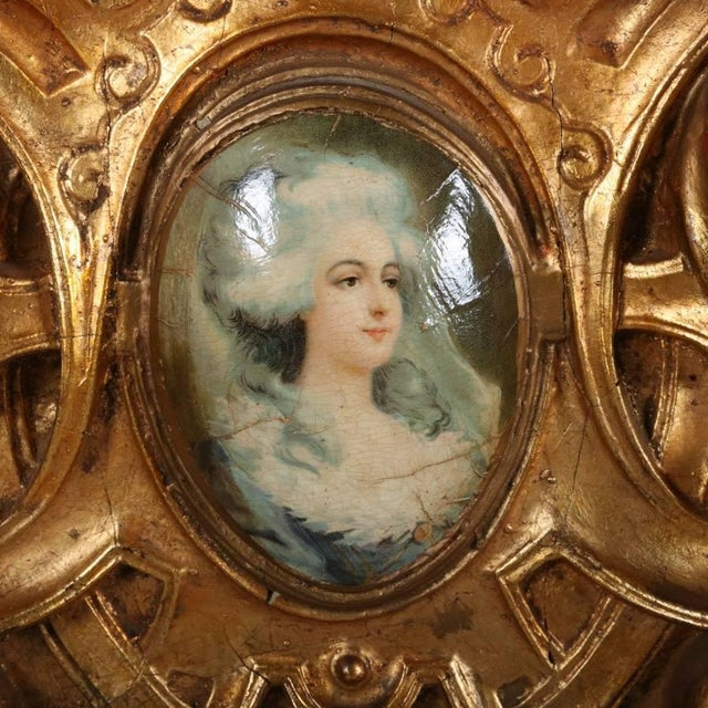 Louis XIV Monumental Antique French Marie Antoinette Pierced Giltwood Over Mantel Mirror For Sale - Image 3 of 11