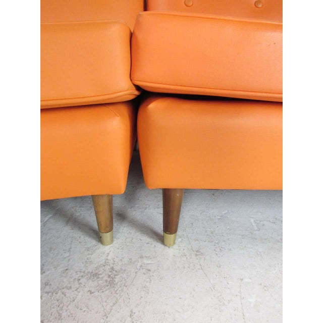 Mid-Century Modern Three-Piece Sectional Sofa For Sale - Image 9 of 13