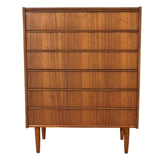 Original Danish Midcentury High Boy Dresser - Ræv For Sale