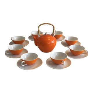 1970s Mid-Century Modern Tea Service - Set of 9 For Sale