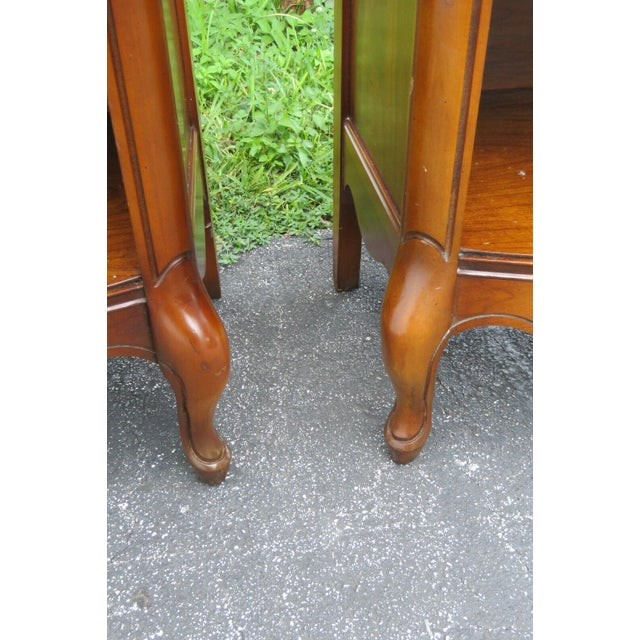 French Cherry Nightstands Side End Tables - a Pair For Sale - Image 9 of 13