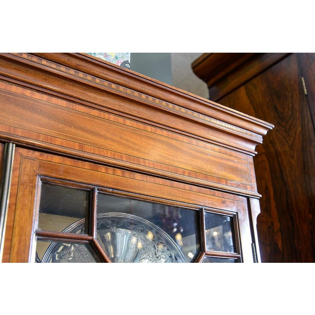 Wood English Vitrine Cabinet For Sale - Image 7 of 10