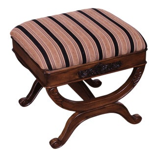 Regency Style X Base Stool or Bench For Sale