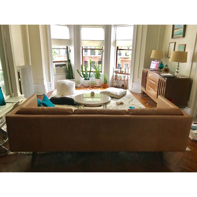 West Elm Brooklyn Leather Sofa Chairish