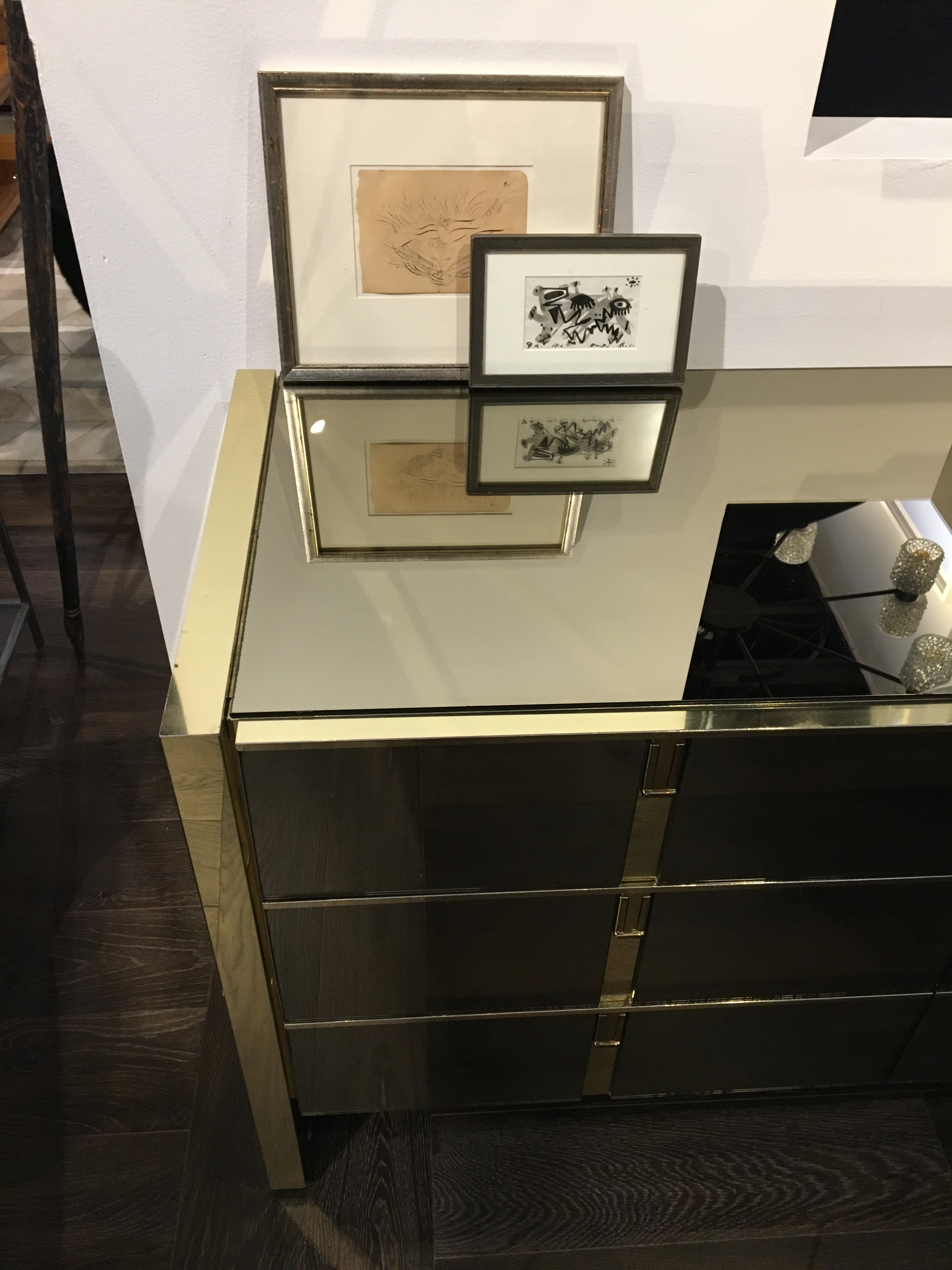 Superbe A 1970s Ello Bronze And Polished Metal Dresser With Nine Drawers. There Are  Some Dings