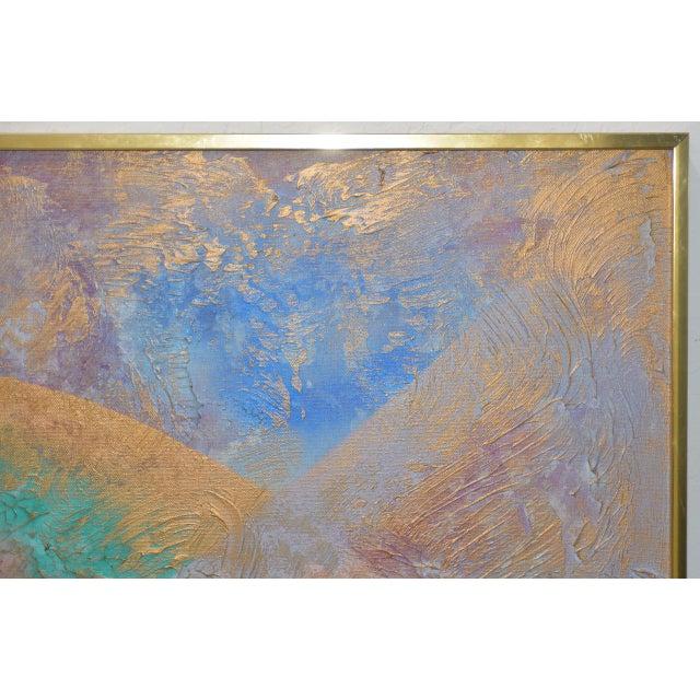 Lee Reynolds Lee Reynolds Vanguard Studios Mid Century Abstract Oil Painting C.1960s For Sale - Image 4 of 8