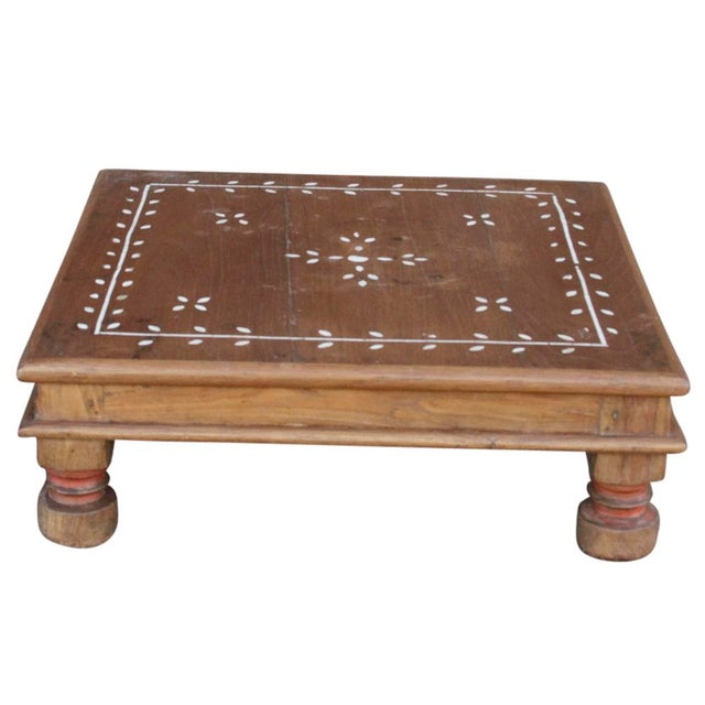 Vine motif inlaid floor table chairish for Table and vine