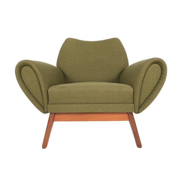 Johannes Andersen Lounge Chair in Olive - Image 4 of 11