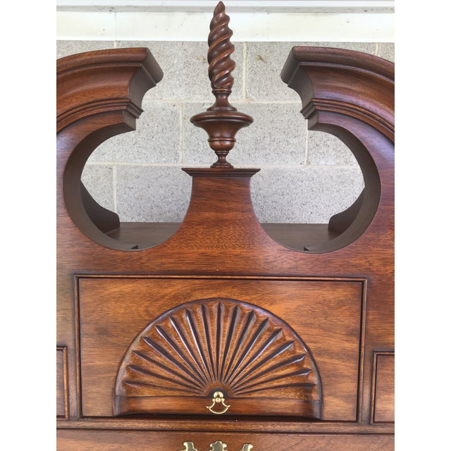 Henkel Harris Solid Mahogany Chippendale Style Ball & Claw Highboy For Sale In Philadelphia - Image 6 of 12