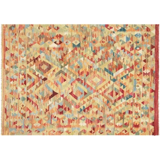 "Nalbandian - Contemporary Afghan Maimana Kilim - 4'1"" X 5'9"" For Sale"