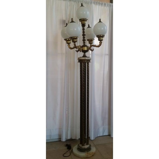 Mid-Century Saloon Bar Globe Floor Lamp - Image 3 of 11