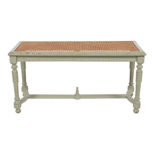 Antique Louis XVI Style Painted Bench - Image 1 of 10