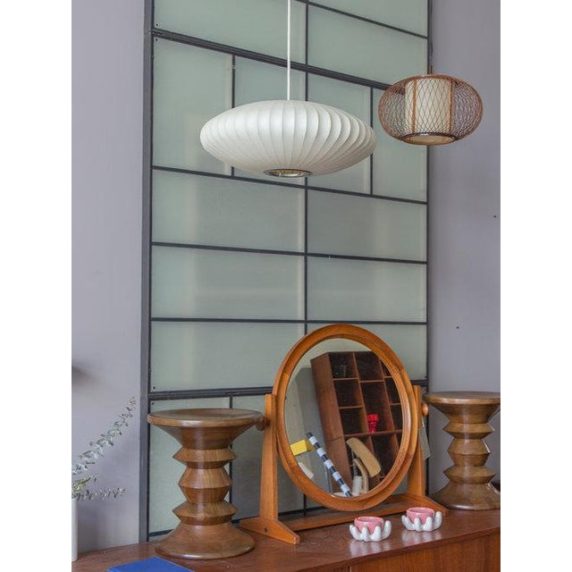 Modern Vintage George Nelson Bubble Lamp For Sale - Image 3 of 8