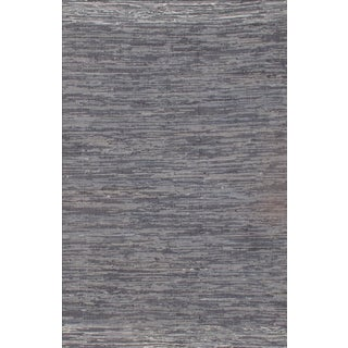 Blue Cotton Modern Rug - 10′2″ × 13′11″