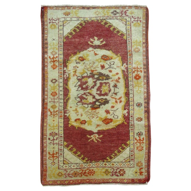 Vintage Turkish Oushak Rug - 2′2″ × 3′11″ - Image 1 of 3