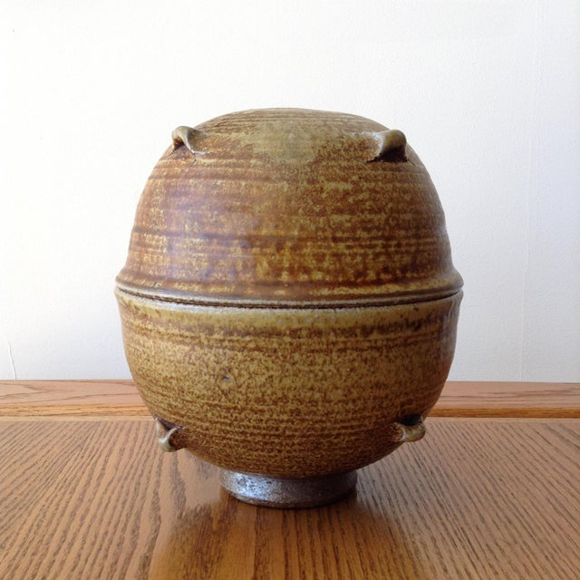 Beautiful, vintage ceramic vessel. Signed.