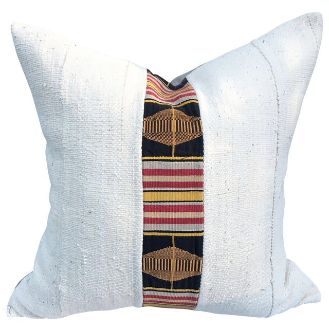 African Mud Cloth Pillow - Image 1 of 5