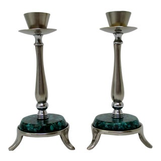 Israeli Candlesticks, a Pair For Sale