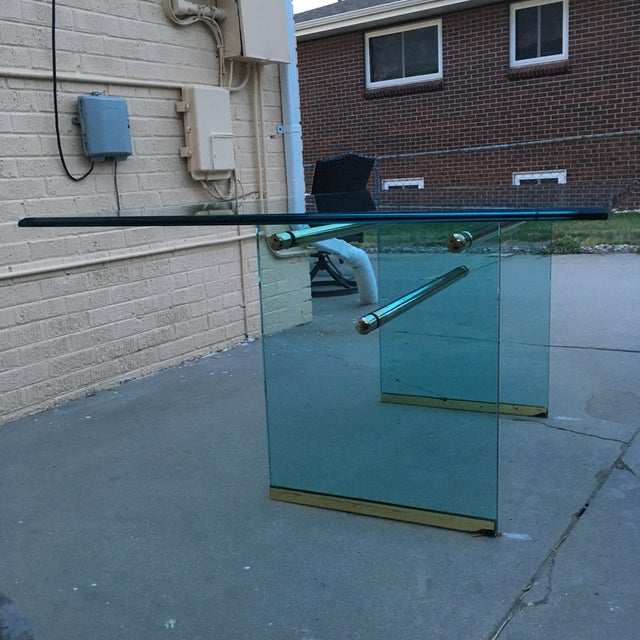 Mid-Century Modern Glass and Brass Mid-Century Modern Dining Table by Pace For Sale - Image 3 of 13
