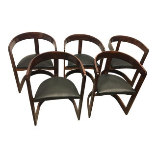 Postmodern Chairs in the Style of Scarpa- Set of 5 For Sale