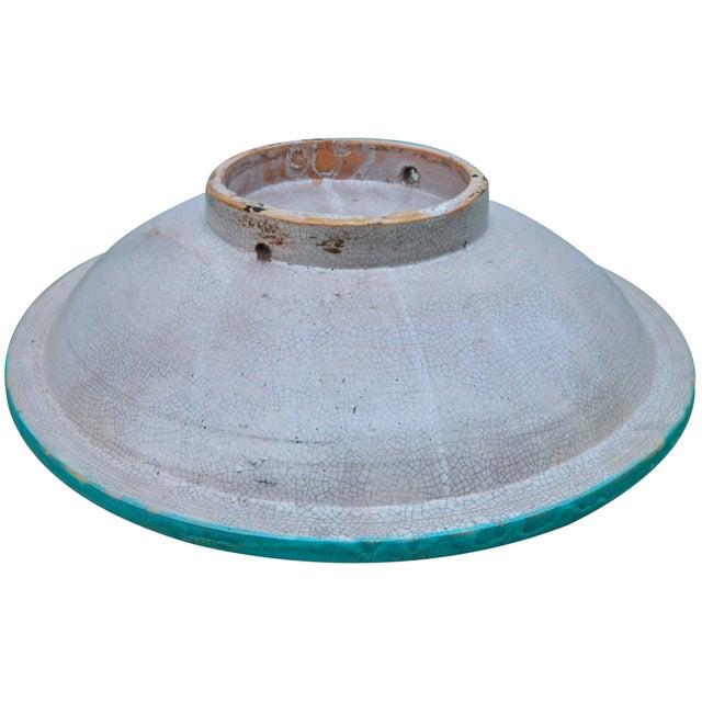 Orange Antique Ceramic Bowl W/ Andalusian Motif For Sale - Image 8 of 9