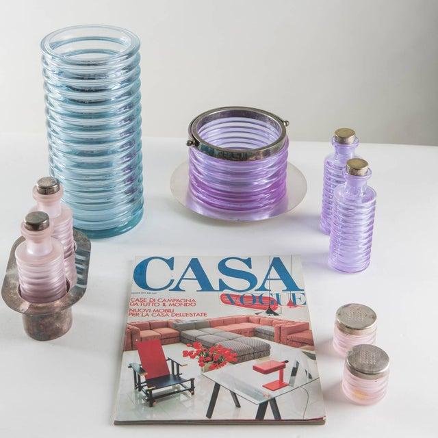 """""""Onda"""" Glass Set by Sergio Asti for Arnolfo di Cambio For Sale - Image 10 of 10"""